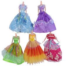 5Pcs robe de soirée robe vêtements mariage pour princesse disney poupées barbie