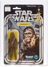 Star Wars Vintage Kenner 12-A Back Chewbacca White Figure Stand MOC AFA 70