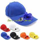 Summer Sport Outdoor Hat Cap with Solar Sun Power Cool Fan For Cycling SE