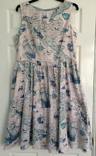 LAURA ASHLEY SAILING BOATS NAUTICAL WITH PETTICOAT COTTON DRESS 16 - BRAND NEW!