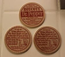 (Lot of 3) DUBLIN DR PEPPER / BOYCOTT DR PEPPER Orig 2012 Wooden Nickels Texas