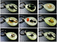 LOTS 32PCS COOL INSECT SPIDER&SCORPION&ANT&CRAB&BEE DROP SMART MIX KEY-CHAINS