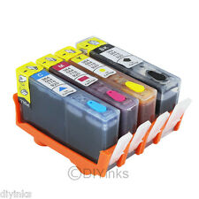 4pk Refillable Ink Cartridge SET for HP 564 / 564XL Photosmart 5522 5525 5514 4c