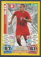 TOPPS MATCH ATTAX  BRAZIL 2014 WORLD CUP- #221-SWITZERLAND-GOKHAN INLER