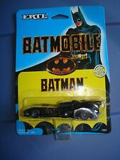 Ertl Die-Cast Metal Batman BATMOBILE 1989 1/64 Car Figure Action NIP