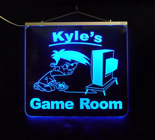 Personalized Game Room, Man Cave, Garage, Bar, LED Sign