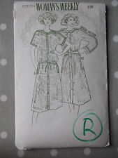 70s 80s Shirt Dress Vtg Sewing Pattern Womans Weekly B709 Bust 34 ""