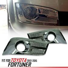 CHROME FRONT FOG LIGHT LAMP COVER TRIM FIT FOR TOYOTA FORTUNER SW4 2012 13 14 15