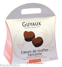 Guyaux FRENCH Gourmet Dark Chocolate TRUFFLES HEART VALENTINE'S DAY Gift Box