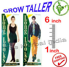 Increase Height Gain Enhancer Growth 60 Capsules Herbal Supplement longer Taller