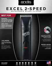 Andis Excel 2-Speed Professional Detachable Blade Hair Clipper Black #22315 NEW