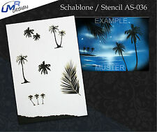 Step by Step Airbrush Stencil AS-036 M ~ Template ~ UMR-Design