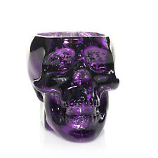 YANKEE CANDLE PERFECT POTIONS PURPLE CRYSTAL SKULL TEA LIGHT HOLDER NIB RARE!!