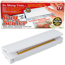 Battery Operated Heat Bag Sealer Kitchen Catering Fresh Protect Keep Safe Secure