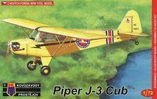 Kovozavody Prostejov 1/72 Model Kit 7242 Piper J-3 Cub