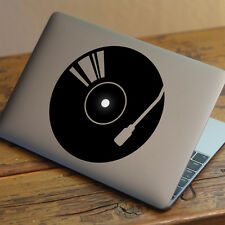 "DJ DECKS/RECORD Apple MacBook Decal Sticker fits 11"" 13"" 15"" and 17"" models"