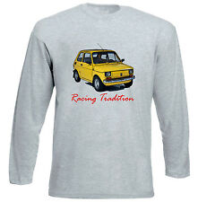 MALUCH POLISH FIAT 126 P RACING - GREY LONG SLEEVED TSHIRT- ALL SIZES IN STOCK
