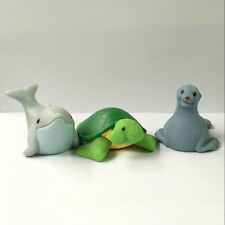 3 Animal Fisher-Price Little People Zoo Park Seals Dolphin Turtle figure Doll