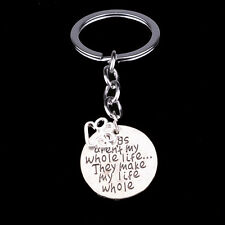 Pet Dog Tag Paw Engraved Charm Keyring Keychain Key Chain Ring Fob Friends Gifts