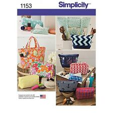 SIMPLICITY SEWING PATTERN FASHION BAGS BAG IN VARIOUS SIZES 1153