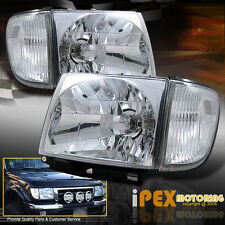 1998 1999 2000 Toyota Tacoma 4WD 4x4 Chrome Headlights + Clear Corner Lights