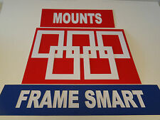 50 x WHITE PICTURE/PHOTO MOUNTS 8x6 for 6x4