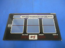 Bally Gaming Inc. Blue Slot Reel Glass Single Payline