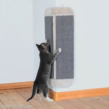 Light Grey Sisal Cat Corner Scratching Board Scratch Mat With Plush Edge