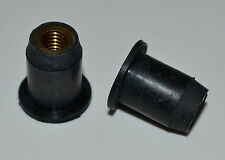 Rubber Well Nuts M5 x 14mm Motorbike Fairing - Boats - Kit Cars- Pack Qty 5