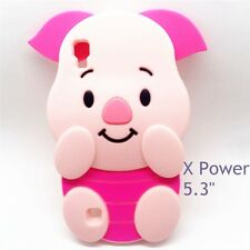 3D Cute For LG X Power 5.3inch Case Silicone Piglet Pig Phone Cover Rub Skin