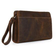 Fashion Genuine Leather Merchant Men's Business Use Clutch Bag Handbag Briefcase