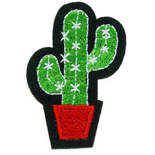 Cactus Iron on Sew on Embroidered Patch Badge Motif  For Clothing Applique