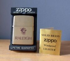 1993 Zippo Lighter, Sir Walter Raleigh Tabacco, Solid Brass, Rare