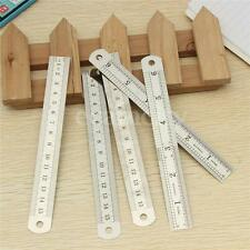 【5pc】 6'' Double Side SAE & Metric Stainless Steel Measuring Straight Ruler