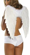 """White Feather Wings for Costume 18 1/2"""" Long 20"""" Spread Open Roma 1361"""