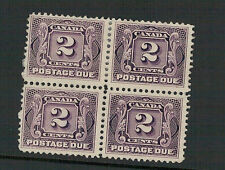 CANADA.1905. SG.D3 2 cents POSTAGE DUE BLOCK OF FOUR, NO GUM & HINGED
