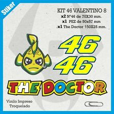 KIT STICKER ADHESIVO PEGATINA BUMPER AUTOCOLLANT VR46 ROSSI THE DOCTOR 7