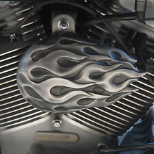 Ball Of Flames horn cover in aged aluminum finish. Harley Davidson. BFP-1