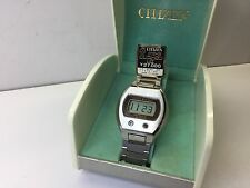 NOS  - Citizen Crystron LC 9040 Digital Quartz Watch LCD with box uhr MOT