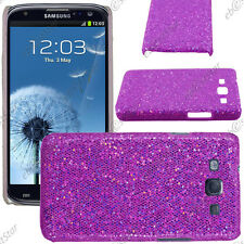 Etui Housse Coque Strass Bling Paillette Violet Samsung Galaxy S3 I9300 +Film