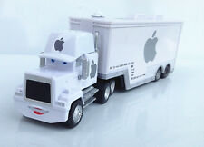 Disney Pixar Cars White Apple Mac iCar Racer's Hauler Truck Trailer Toy