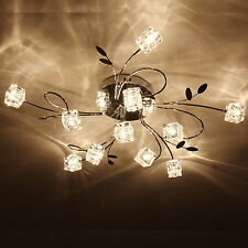 Modern 11 Light Crystal Chandelier Pendant Lamp Flush Mount Ceiling Lighting