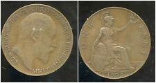 ROYAUME UNI  one penny 1908
