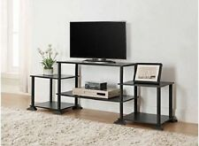 Small TV Stand For Flat Screens Black Entertainment Center Media Table Console