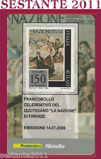 TESSERA FILATELICA FRANCOBOLLO QUOTIDIANO LA NAZIONE DI FIRENZE 2009 N41
