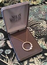 "NOLAN MILLER GLAMOUR COLLECTION SIMULATED DIAMOND ""CIRCLE OF LOVE PENDANT"""