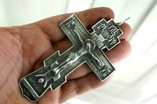 RUSSIAN PECTORAL PRIEST ORTHODOX CROSS 84 STAMPED .SOLID SILVER STERLING N/R