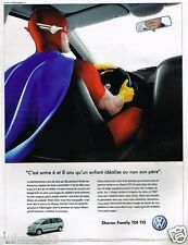 Publicité advertising 2002 VW Volkswagen Sharan Family TDI 115