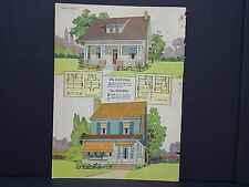 Houses, Homes, American Builder c.1927, One Double Sided Print #05