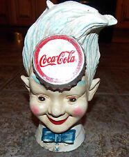 SUPERB HEAVY CAST IRON COCA COLA ADVERTISING BOY MONEY BOX